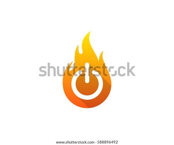 Power Fire Logo Design Element