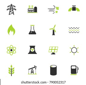 power generation color vector icons for web and user interface design