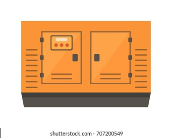 Power generator isolated on white background, flat style vector illustration.