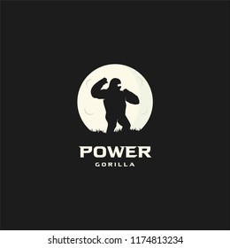 power gorilla logo vector