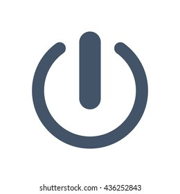 Power icon, flat design style
