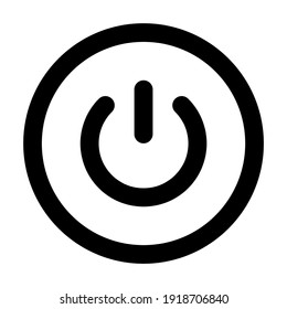 Power icon for graphic design projects