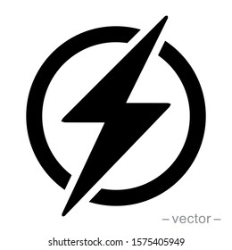 Power Icon, Lightning Power Icon