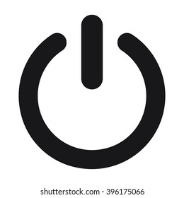 power icon on the white background