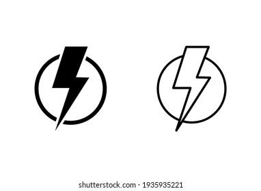 Power icon set. Power Switch Icon. Electric power