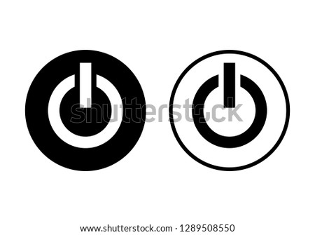 Power Icon Power Switch Icon Stock Vector Royalty Free 1289508550