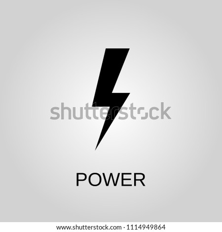 Power Icon Power Symbol Flat Design Stock Vector Royalty Free