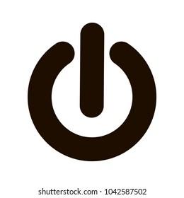 Power icon. Power symbol. Flat vector illustration. Start icon.