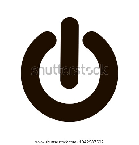 Power Icon Power Symbol Flat Vector Stock Vector Royalty Free
