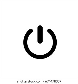 Power icon in trendy flat style isolated on background. Power icon page symbol for your web site design Power icon logo, app, UI. Power icon Vector illustration, EPS10.