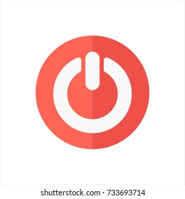 power icon in trendy flat style isolated on white background. power icon symbol for your web site design,power logo, app, UI. Vector illustration, power icon eps10.