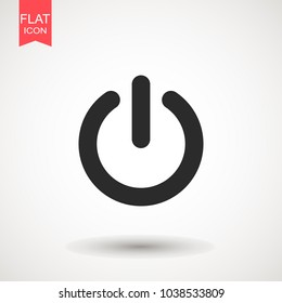 Power icon Vector Illustration on the white background. Power Button Logo. Symbol and Icon Vector Template