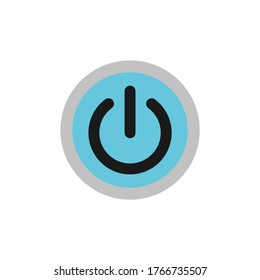 Power icons. circle button with power icon