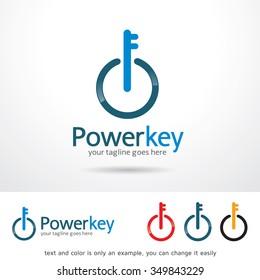 Power Key Logo Template Design Vector