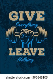 Power Lifting Poster Quote Design