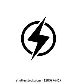 Power lightning icon Vector