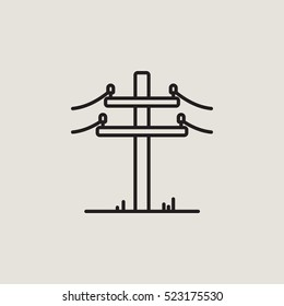 Power Line Outline Vector Icon