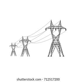 Power line. Vector.