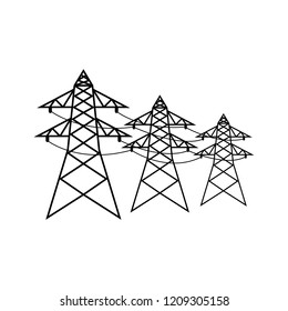 Power lines icon, logo on white background