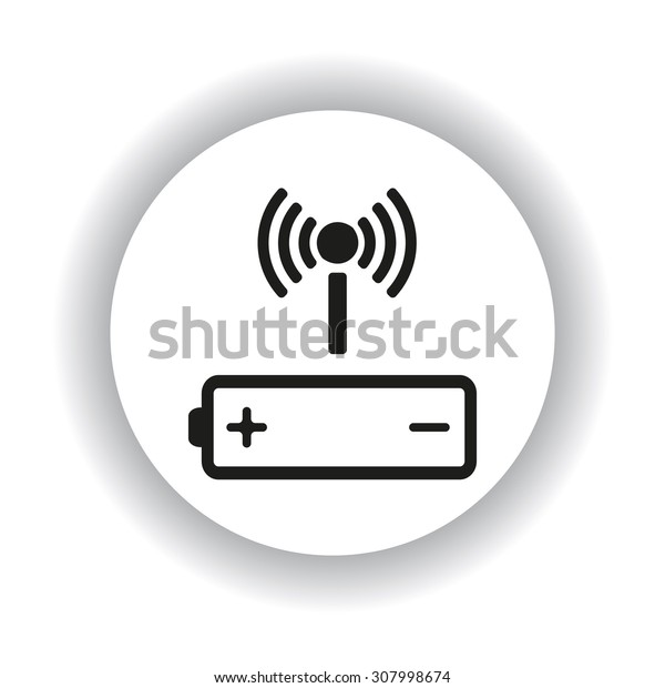 power management through a wi-fi network. icon. vector design