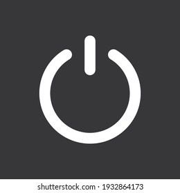 Power off icon on grey background