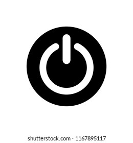 Power ON OFF Flat Round icon vector