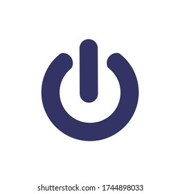 Power on off icon vector, in trendy flat style isolated on white background. Power on off icon image,  On, off Icon in trendy flat style isolated. Can be used for Web, Mobile, Infographic and Print.