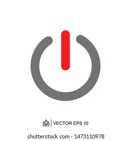 power on off logo icon template,power on off vector element