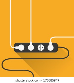 power outlet icon in minimal style
