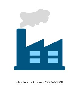power plant icon. Factory Industrial Buildings Power plants vector icons