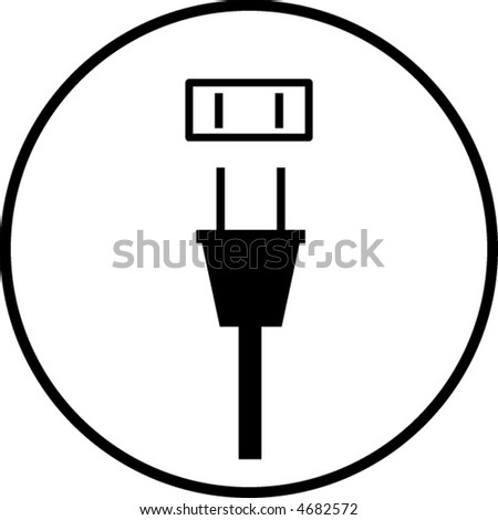 Power Plug Outlet Symbol Stock Vector Royalty Free 4682572