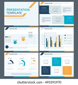 Power point template, infographic presentation template, design element, flat modern style