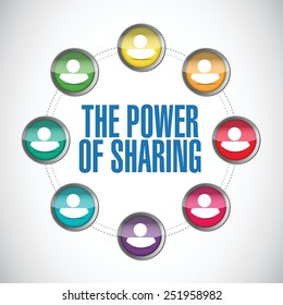 the power of sharing people diagram illustration design over a white background