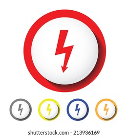 Power sign icon , electric sign icon