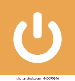 Power sign vector icon