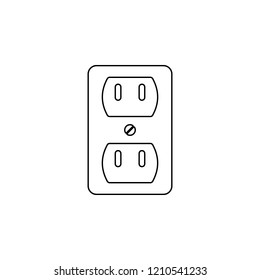 power socket icon. Simple outline vector of energy set for UI and UX, website or mobile application