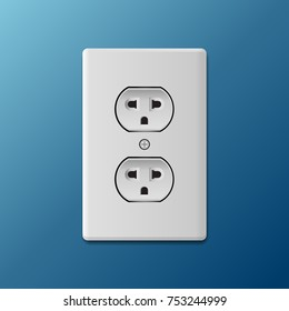 Power socket vector illustration.