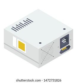 Power supply vector in isometric design