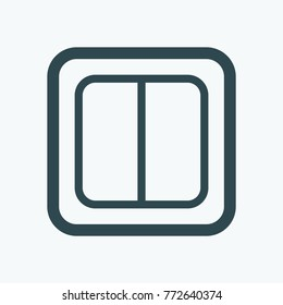 Power switch isolated icon, electric switch linear vector icon