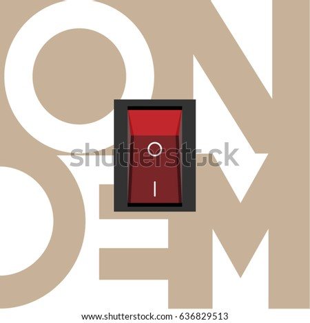 Power Toggle Switch Button Cut Out Stock Vector Royalty Free