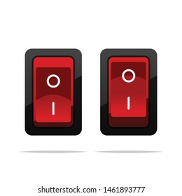 Power toggle switch vector isolated