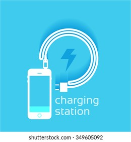 Power vector design, phone charging station