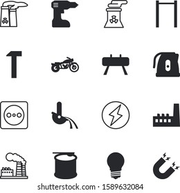 power vector icon set such as: electronic, lightning, magnetize, frame, motorcycle, cable, sell, uk, shine, kitchenware, bodybuilding, speed, vehicle, green, coffee, invention, flash, cooking, iron