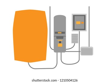 Power wall concept in flat style. Vector illustration. For web, banner, shop.