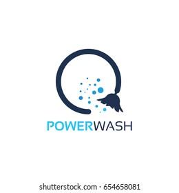 Power Wash Logo Template Design