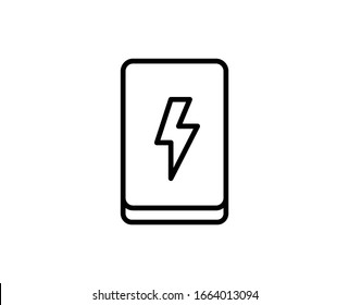 Powerbank line icon. Vector symbol in trendy flat style on white background. Web sing for design.