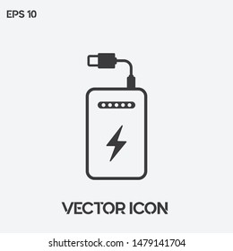 Powerbank vector icon illustration. Ui/Ux. Premium quality.