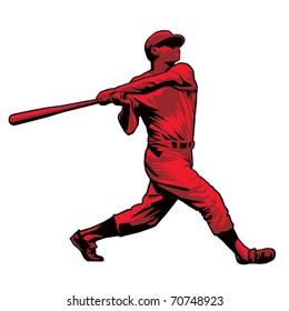 Powerful Baseball Hitter Left handed