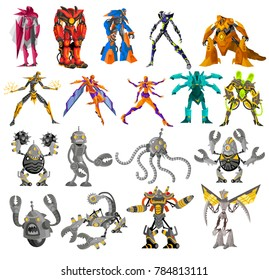 powerful battle robots collection