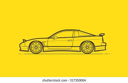 Powerful Japanese Drift Car